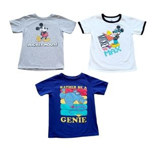 Lot of Boys Disney Short Sleeve T-Shirts Size 5/6